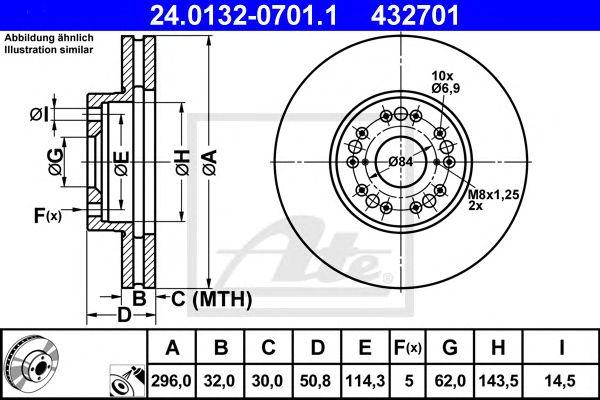 Disco de Travão Lexus Gs 300 (97-05) Ft