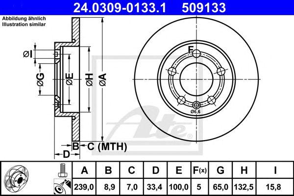 ATE 24.0309-0133.1, Audi A3 (96-03) Tr