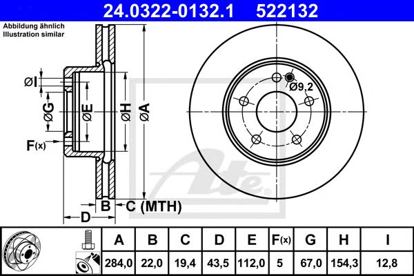Power Disc MB W202 Carav. 93
