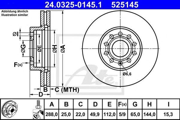 Power Disc Audi A3 03- (288mm)
