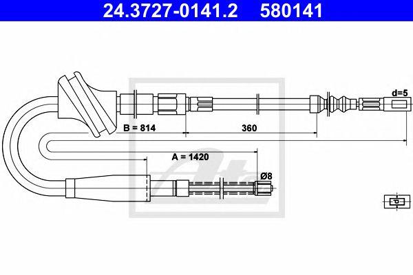 Cabo Travão Mão Audi 100 (91-94)
