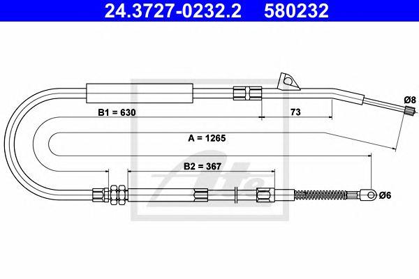 Cabo Travão Mão BMW 7/e38 (93-01)