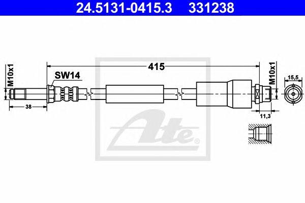 Tubo travão  MB Transporter (bm 906)sprinter (06-) T