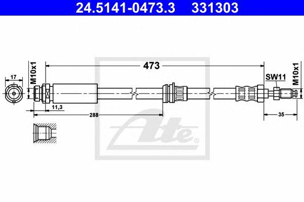 Tubo travão  Ford Fiesta V (02-08) 1.3 I Ft