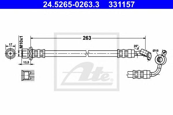ATE 24.5265-0263.3, Tubos de Travão Ate Toyota Hiace (06-)