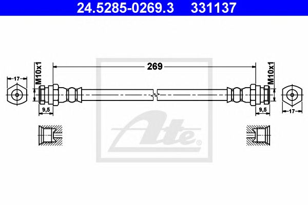 Tubo travão  Mazda Demio (98-02) Tr