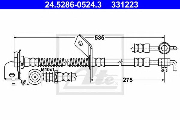 Tubo travão  Kia Ceed Kombi (07-) 1.6 Crdi 128 Ft