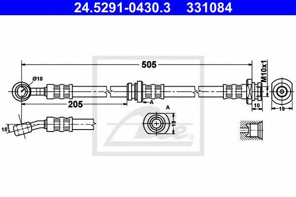 Tubo travão  Subaru Justy (g3x) (03-07) Ft