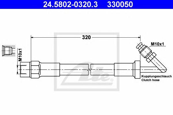 Tubo travão BMW 3 E30 (82-93)