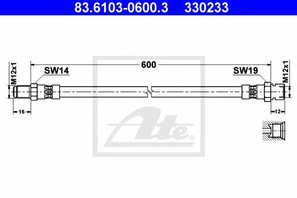 Tubo travão  Classic Nfz  LKW 6000-8000 Ft