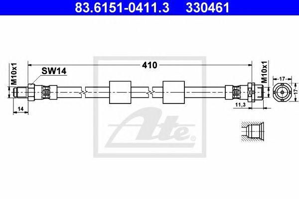 Tubo travão  BMW 5 Series/e39 (96-03) Ft