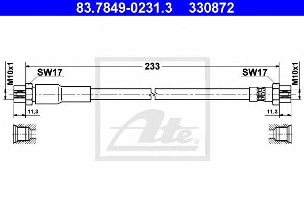 Tubo travão Audi A3 / A3 Sportback (03-) Tr